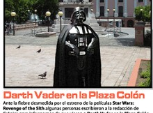 Darth Vader en plaza colon | javier martinez | Tinta[A]Diario