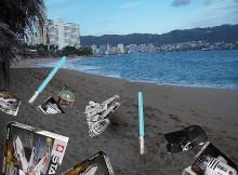 Juguetes de Star Wars aparecen en una playa de México-Cronica Urbana