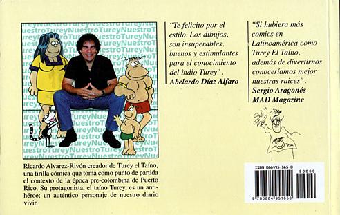 el retorno de Turey el Taino-contraportada-Ricardo Alvarez Rivon-Tinta[A]Diario