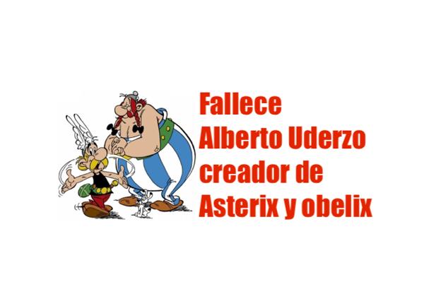 fallece Alberto Uderzo Asterix y obelix
